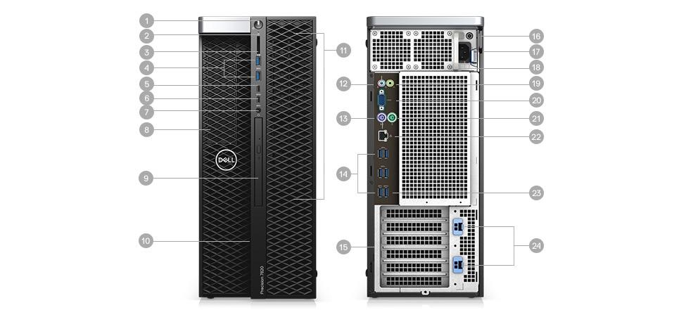 Máy trạm Workstation Dell Precision 5820 Tower XCTO Base-(42PT58DW20)